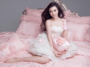Dress, wedding, Pink, panels, Fan Bingbing