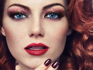 make-up, Emma Stone, Women
