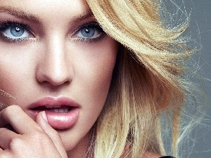 make-up, Candice Swanepoel, Blonde