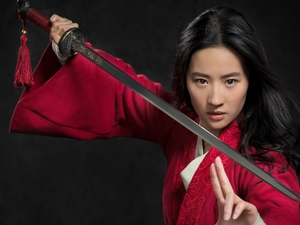 Liu Yifei, Weapons, Mulan, actress, movie
