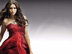 dress, Nina Dobrev, red hot